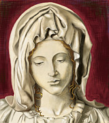Michelangelo Mixed Media Posters - La Pieta 3 Poster by Terry Webb Harshman