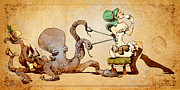 Steampunk Posters - Lacing Up Poster by Brian Kesinger