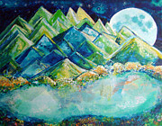 Dream Scape Originals - Lake by the Moon Light by Ashleigh Dyan Moore