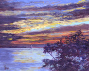 Erie Prints - Lake Erie Sunset Print by Michael Camp