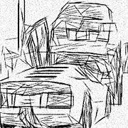 Street Photography Drawings - Lamborghini Pile Up by Jonathan Harnisch