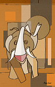 Artist  Singh - Laughing Elephant