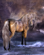 Equine Art Artwork Prints - Lavender Dawn Print by Carol Cavalaris