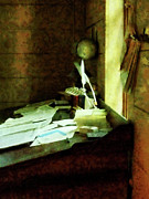 Desks Prints - Lawyer - Desk With Quills and Papers Print by Susan Savad
