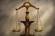 Justice Prints - Lawyer - Scale - Fair and Just Print by Mike Savad