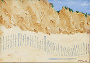 Cape Cod Paintings - Lazy Bluffs at Chapoquoit by Patrick Mancini