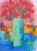 Dallas Pastels Metal Prints - Le Vase Jardin Metal Print by Venus