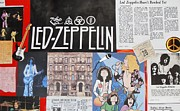 Led Zeppelin Past Times Print by Donna Wilson