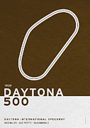 High Digital Art Posters - Legendary Races - 1959 Daytona 500 Poster by Chungkong Art