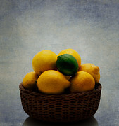 Citrus Fruits Posters - Lemon Lime Poster by Bill  Wakeley