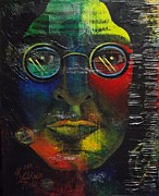 Lead Singer Painting Originals - Lennon by Karrin Melo