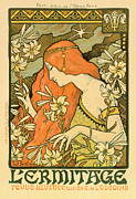 Jugendstil Prints - Lermitage Print by Nomad Art And  Design