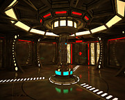 Starship Painting Prints - Life Support Room in A Starship Print by James Christopher Hill
