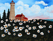 Barbara Griffin - Lighthouse and Daisies