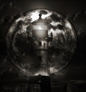 Duluth Art - Lighthouse B/W by Todd and candice Dailey