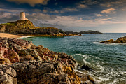Monument Digital Art Prints - Lighthouse Bay Print by Adrian Evans