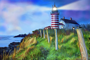 Gerry Robins Prints - Lighthouse Print by Gerry Robins