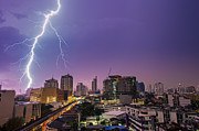 Fototrav Print - Lightning over the city