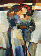 Figurative Art Originals - Lines Crossed by Jen Norton