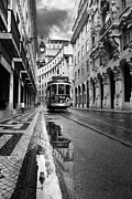 Tram Photo Posters - Lisbon Poster by Jorge Maia