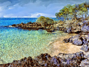 Hana Paintings - Little Cove and Keawe Trees by Dominic Piperata
