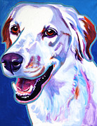 Drawing Painting Originals - Llewellin Setter - Cheetah by Alicia VanNoy Call