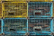 Port Holes Framed Prints - Lobster Traps Framed Print by Stuart Litoff