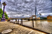 Chelsea Prints - London Bridge Shard HDR Print by David French