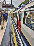 Old Town Digital Art Prints - London Underground 3 Print by Yury Malkov