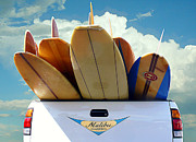 Surfboards Digital Art - Longboard Heaven by Ron Regalado
