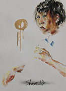 Violin Pastels - Looking at the Conductor I by Chia Hui Shen