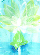 Dream Scape Painting Posters - Lotus Petals Awakening Spirit Poster by Ashleigh Dyan Bayer