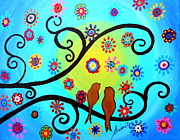 Pristine Cartera Turkus - Love Birds In Whimsyland