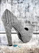 Shoe Digital Art - Love Houndstooth Shoe by Lori Frostad