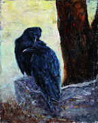 Crows Paintings - Love Season I by Xueling Zou