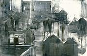 Printmaking Mixed Media - Lower Manhattan 2 by Steve Dininno