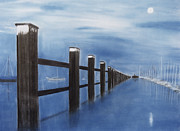 Dock Drawings - Lymington by Kris Mercer