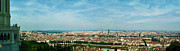 Merged Framed Prints - Lyon From The Basilique de Fourviere-color Framed Print by Paulette Wright