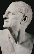 Statue Portrait Metal Prints - Lysimachus 355-281 Bc. King Of Thrace Metal Print by Everett