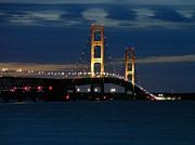 Keith Stokes - Mackinac Bridge at dusk