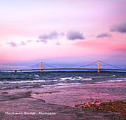 LeeAnn McLaneGoetz McLaneGoetzStudioLLCcom - Mackinac Bridge at sunset