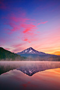 Mount Hood Oregon Posters - Magic Morning Poster by Darren  White