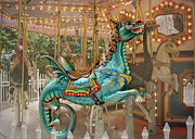 Seahorse Metal Prints - Magical Carousel Metal Print by Sabrina L Ryan