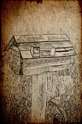 Mail Box Prints - Mail Box Sketch Print by William Hallett