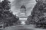 State Legislature Framed Prints - Maine State House IV Framed Print by Clarence Holmes