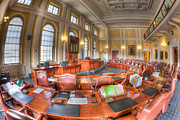 Democracy Framed Prints - Maine State House Senate Chamber I Framed Print by Clarence Holmes