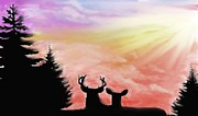 Silhouettes Pastels Framed Prints - Majestic Love Framed Print by Jerry Padilla