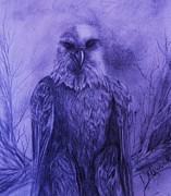 Eagle Drawing Mixed Media - Majestic by Mary DeLawder