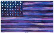 Washington Dc Drawings - Majestic Purple Flag by Eric  Schiabor