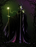 Illustration Framed Prints - Maleficent Framed Print by Christopher Ables
